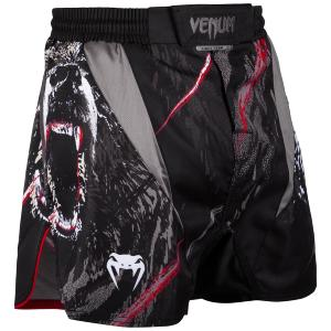 Fight short court Venum Grizzli noir M